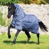 Horseware Rhino Plus Lite Regendecke Weidedecke mit Halsteil Charcoal 115-165 (140) -