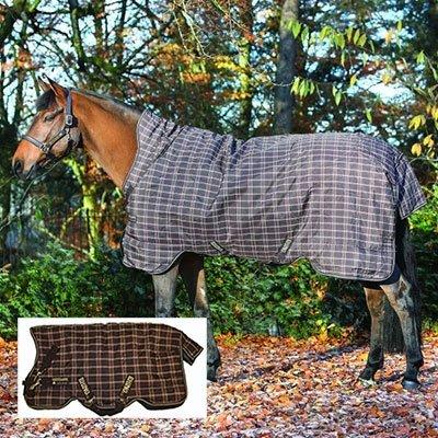 Horseware Weidedecke Rhino WUG Turnout lite 0g mit hohem Hals - Chocolate&Cream, Groesse:140 -