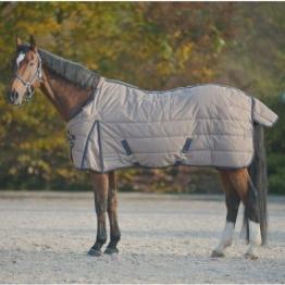 Waldhausen (AL) Stalldecke Premium 300 g, sandbeige/nachtblau, 155 cm, sandbeige/nachtblau, 155 cm -