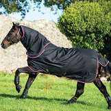 Amigo Hero 6 Plus Medium Turnout Rug 130cm Black/Purple & Mint -