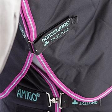 Amigo Hero 6 Plus Medium Turnout Rug 130cm Black/Purple & Mint -