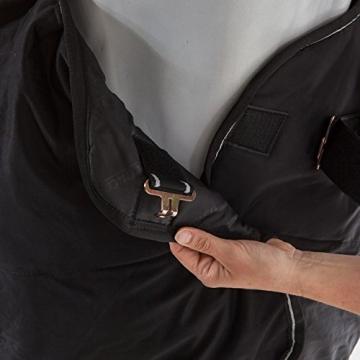 Bucas Shamrock Power, Abschwitzdecke Rückenlänge 115 cm, Schwarz/Silber -