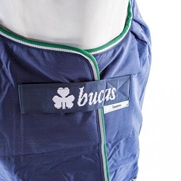 Bucas Smartex Turnout Rain Big Neck 0g - blue, Groesse:135 -