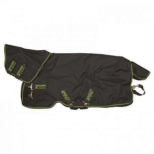 Horseware Amigo Bravo 12 Plus Pony Medium Turnout Rug 110cm Navy/Navy & Green -