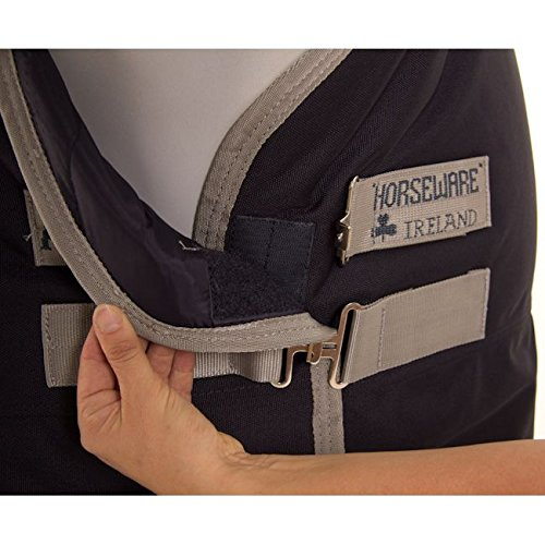 Horseware Amigo Bravo 12 Turnout medium (250g) PONY - navy/silver, Groesse:90 -