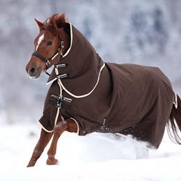 Horseware Amigo Bravo 12 - Winterdecke oder Regendecke 140cm 400g Füllung Chocolate/Chocolate & Cream -