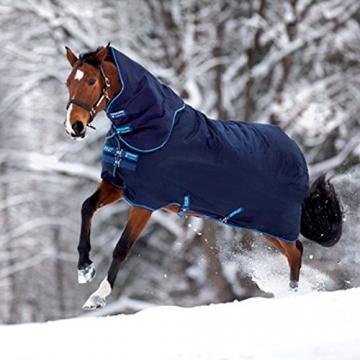 Horseware Amigo Bravo 12 - Winterdecke oder Regendecke 145cm 100g Füllung navy/navy & electric blue -