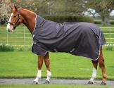 Horseware Amigo Bravo 12 Wug Lite Weidedecke 145cm Excalibur/Silver & Red -