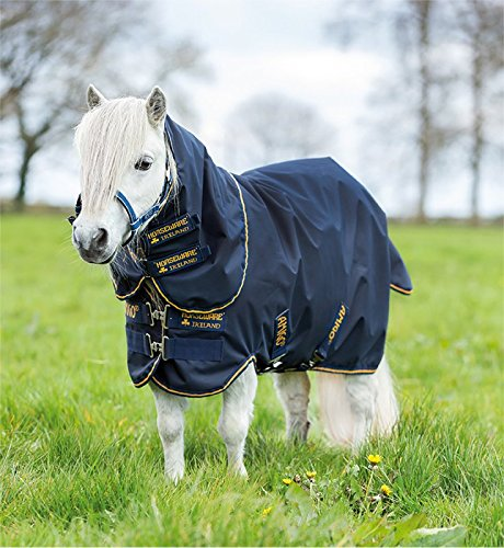 Horseware Amigo Hero 6 Petite Plus Turnout Medium 200g - Navy/Silver, Groesse:70 -