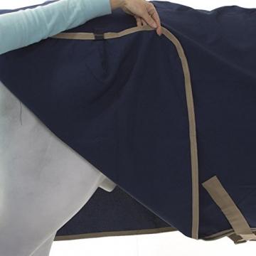 Horseware Amigo Mio Stable Sheet lite 0g - navy/tan&navy - Stalldecke, Groesse:160 -
