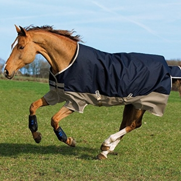 Horseware Amigo Mio Turnout medium 200g -Navy & Tan with Navy, Groesse:155 -