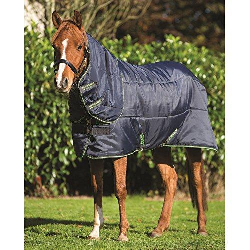 Horseware Amigo Pony Insulator Plus Medium Stable Rug 110cm Navy/Navy & Green -