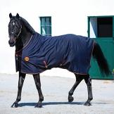 Horseware Rambo Ionic Fleece Abschwitzdecke Black/Orange wählbare Größe (155) -