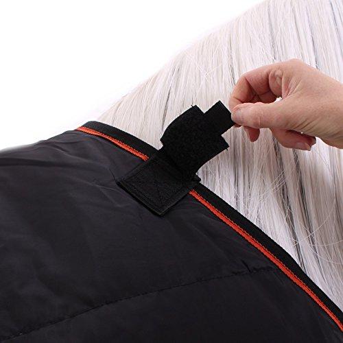 Horseware Rambo Ionic Liner 100g Unterdecke Black/Orange wählbare Größen (145) -