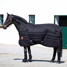 Horseware Ionic Stable Rug Black/Orange wählbare Größe (145) -