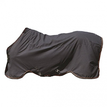Horseware Rambo Ionic Stable Sheet - Black&Orange Stripe, Groesse:140 -