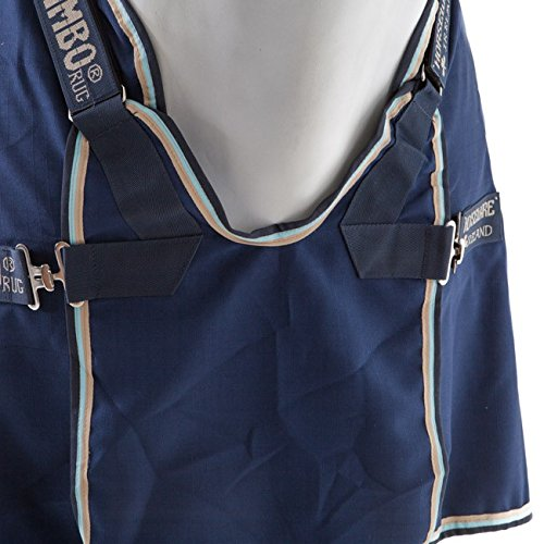 Horseware Rambo Optimo Stable Sheet Summer 0g - Navy with Beige Baby Blue & Navy, Groesse:155 -