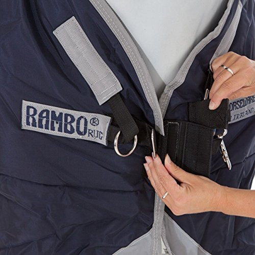 Horseware Rambo Original 200 g mit Beinausschnitt navy/silver 130 -