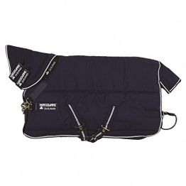 Horseware Rambo Stable Plus mit Vari Layer 450g - Navy & white, Groesse:145 -