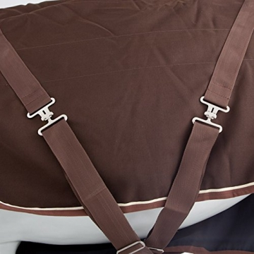 Horseware Rambo Stable Sheet 1000 D - brown / Stalldecke 0g, Groesse:155 -