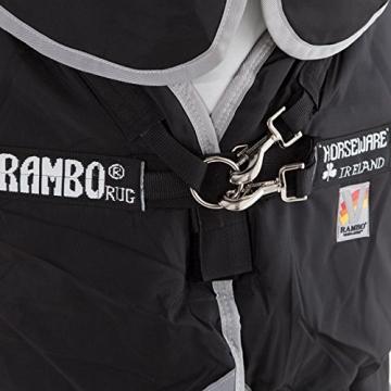 Horseware Rambo Supreme medium Winterdecke m. Halsteil schwarz m.VARI-LAYER-System (155) -