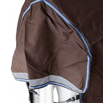 Horseware Rambo Wug mit Vari Layer - Winterdecke 130cm 250g Füllung Choc/Choc & Blue -