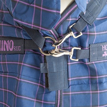 Horseware Rhino Stable Plus Heavy Rug 155cm Navy/Light Purple -