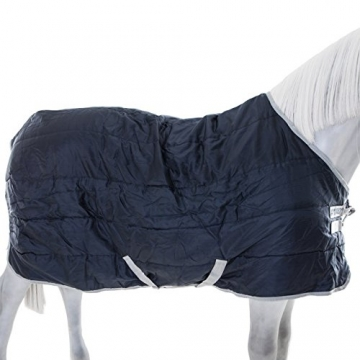 Horseware Stalldecke Amigo Insulator medium with Hood 200g- navy/silver, Groesse:145 -