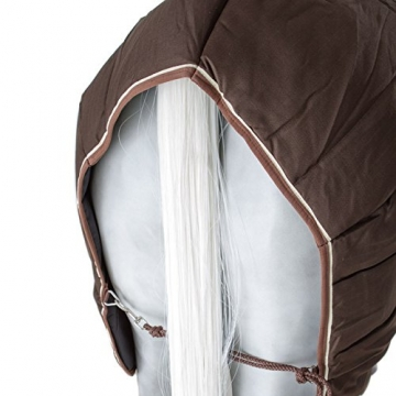 Horseware Stalldecke Rambo Stable Rug 400g - Dark Brown with Beige & Brown, Groesse:160 -