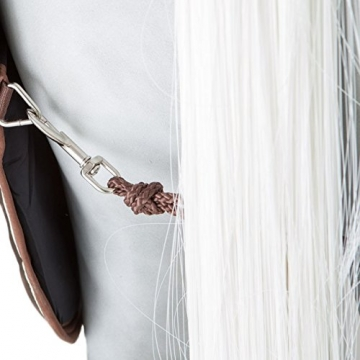 Horseware Stalldecke Rambo Stable Rug 400g - Dark Brown with Beige & Brown, Groesse:160 -
