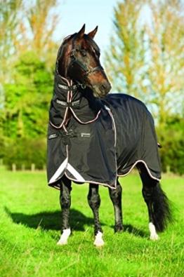 Pferdedecke Horseware Rambo Optimo mit Liner und Halsteil 140cm Black/Orange & Black -